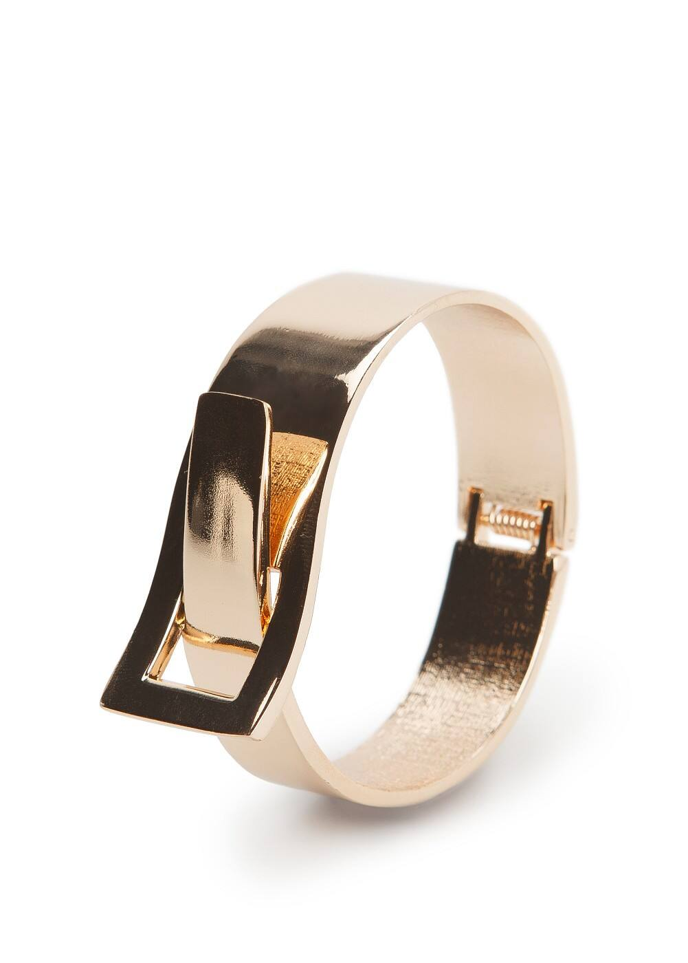 Hinged metal cuff | MANGO