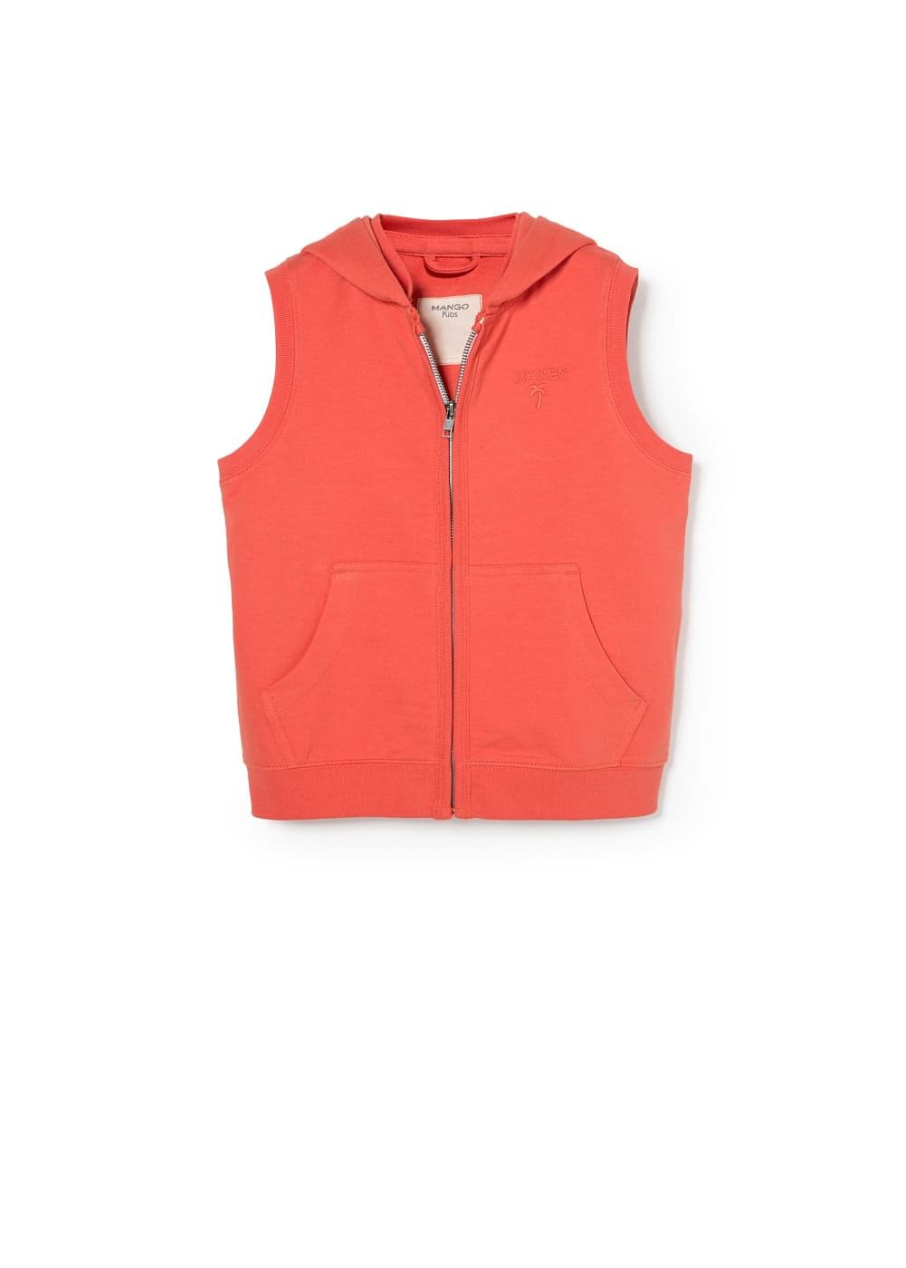 Logo hooded gilet | MANGO KIDS
