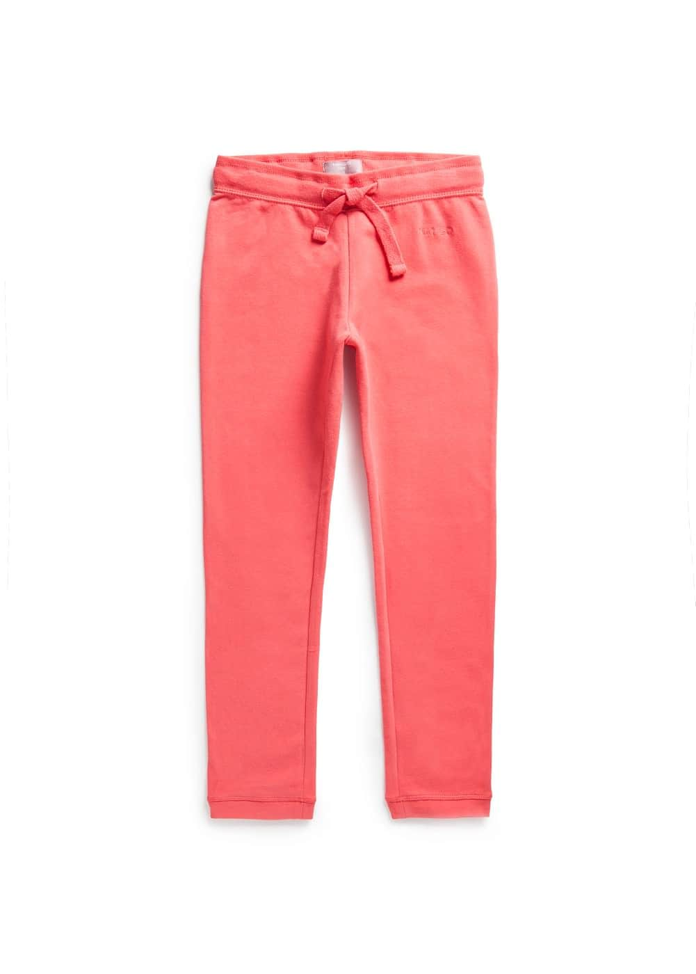 Logo cotton trousers | MANGO KIDS