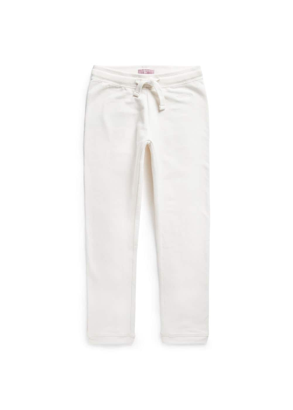 Logo cotton trousers | MANGO