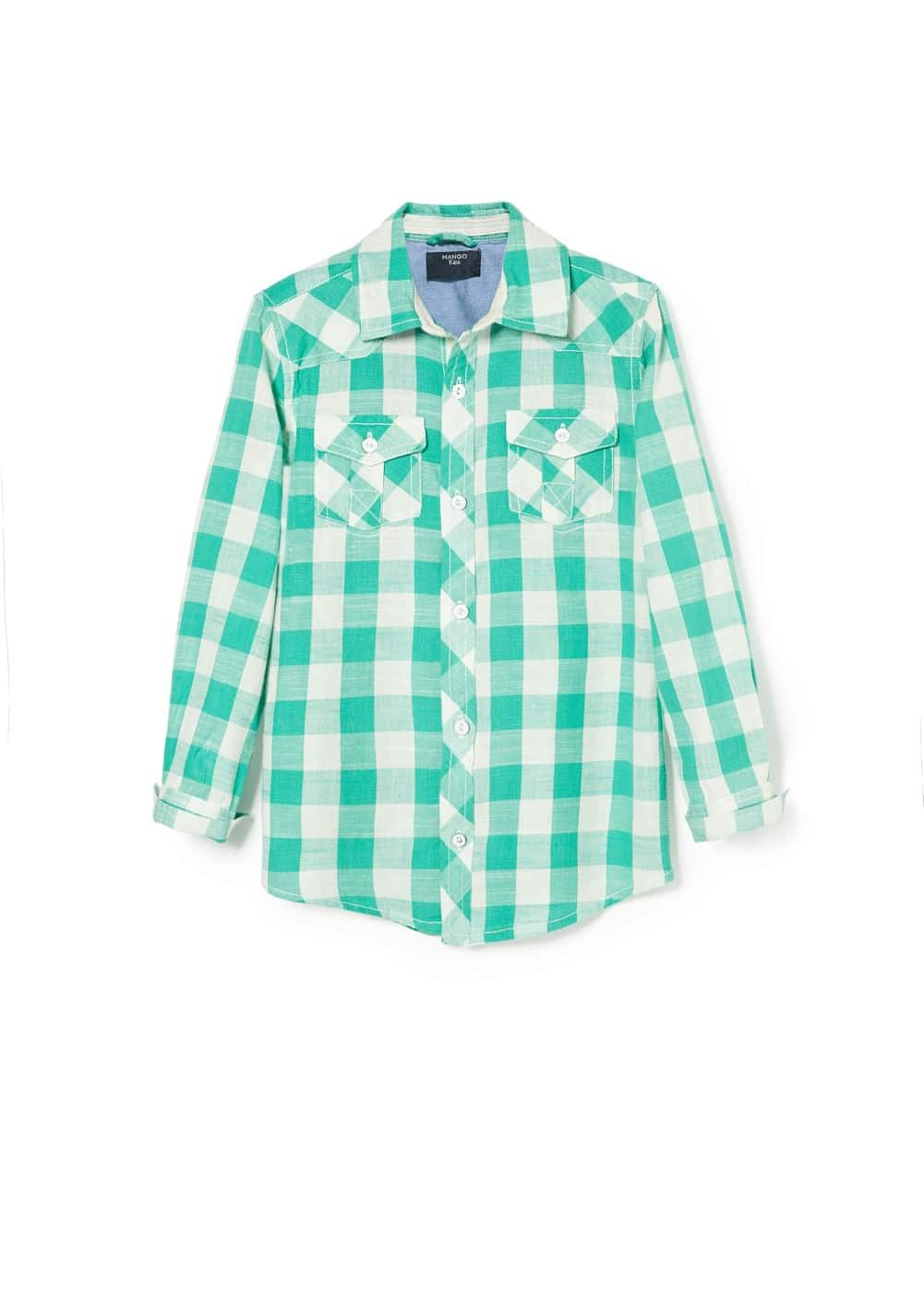 Gingham check shirt | MANGO MAN