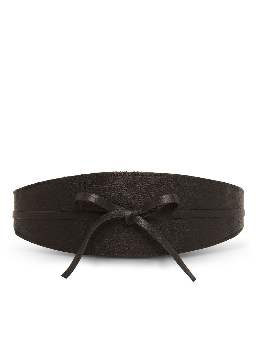 Leather obi belt | MANGO