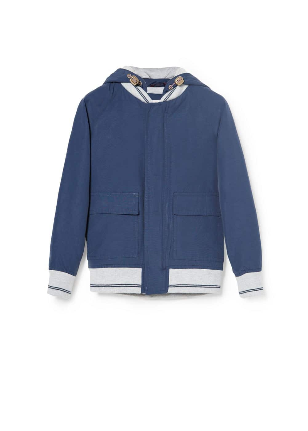 Detachable hood jacket | MANGO KIDS