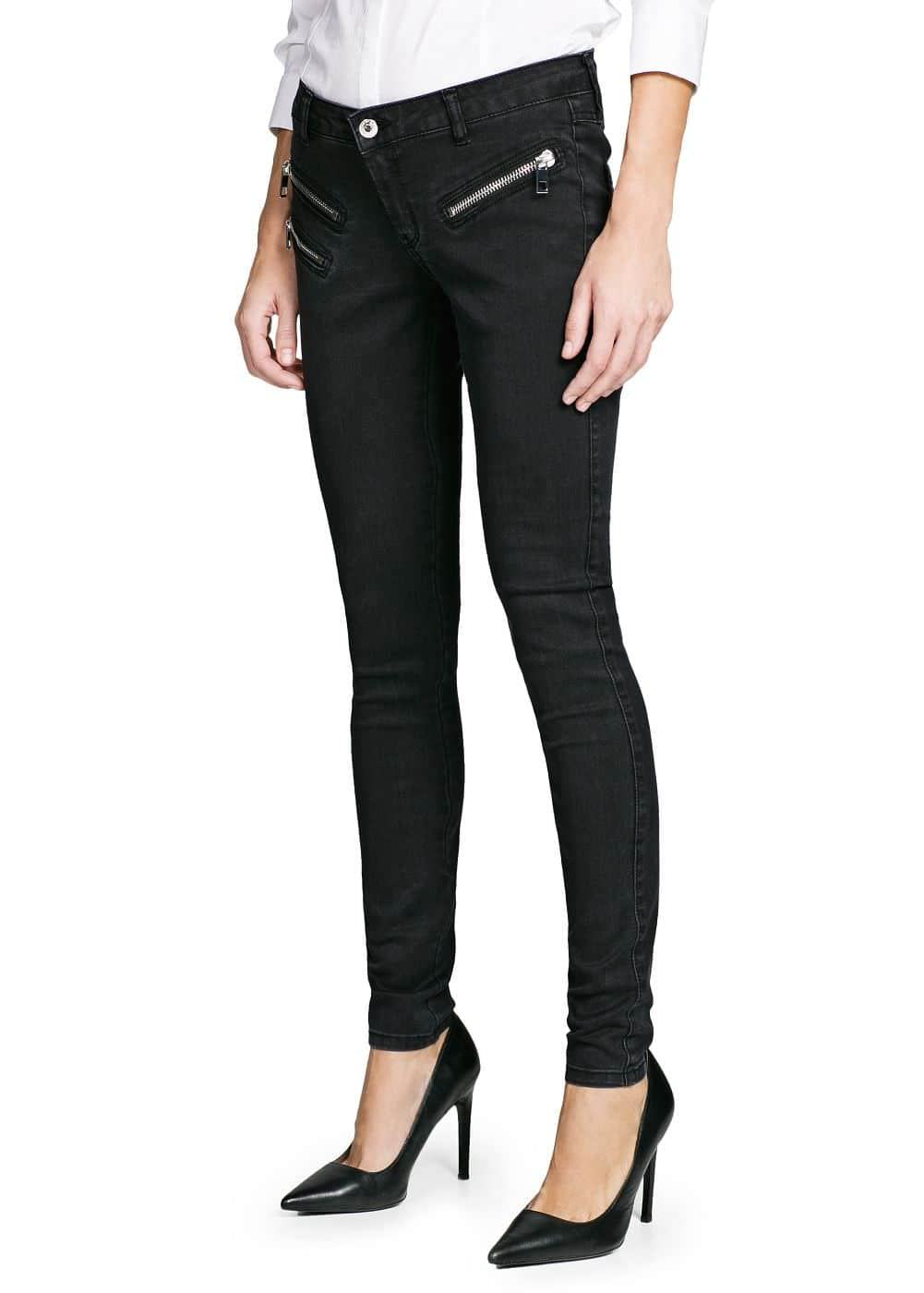 Super slim-fit zippy jeans | MANGO