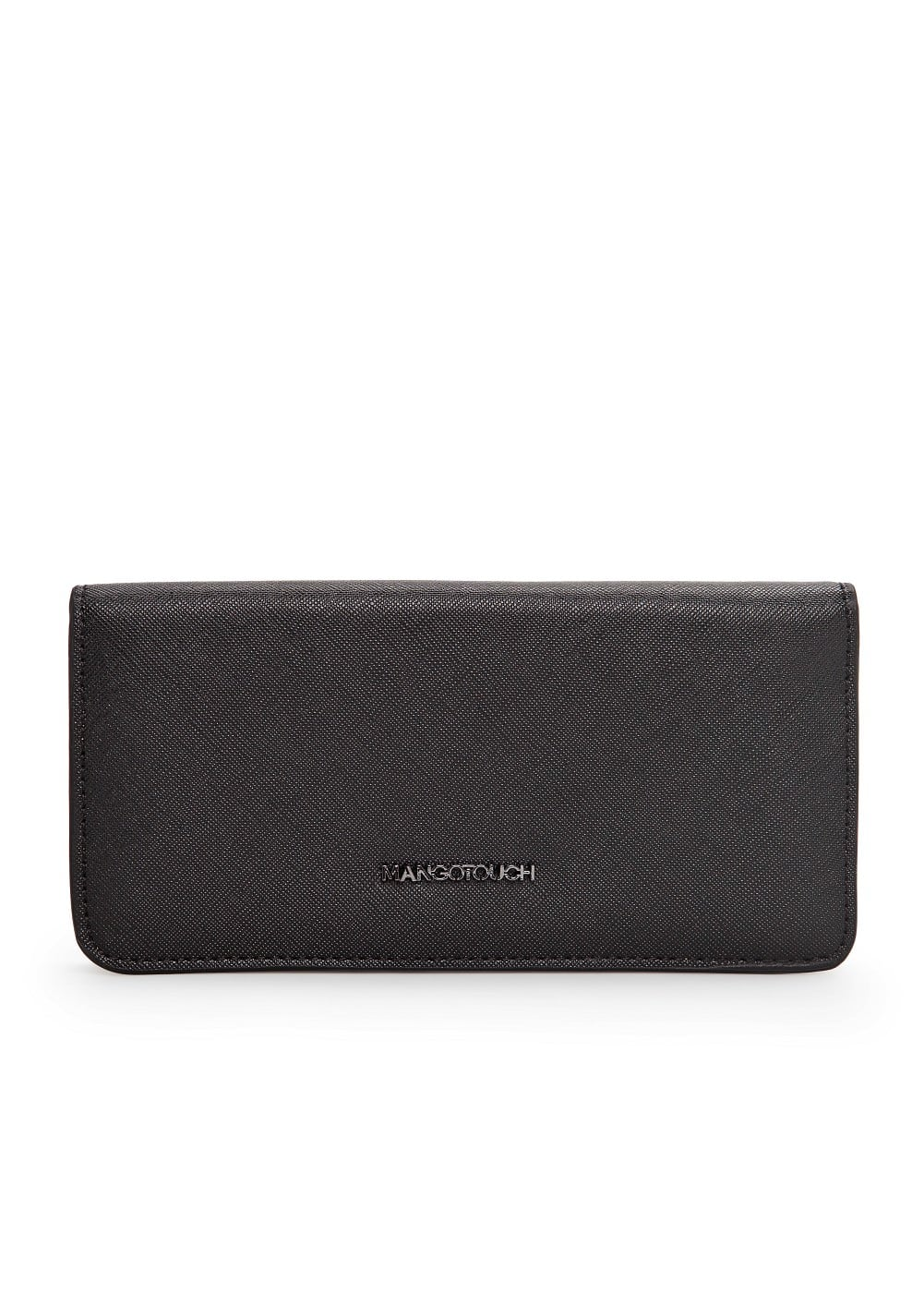 Folded saffiano-effect wallet | MANGO