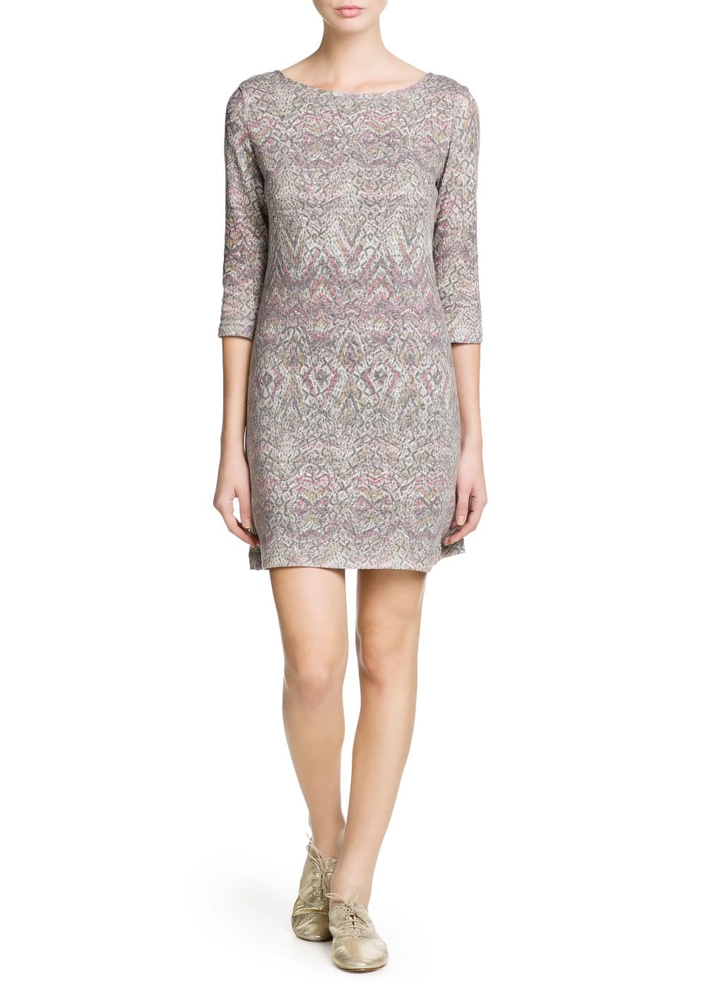 Printed jersey dress | MANGO