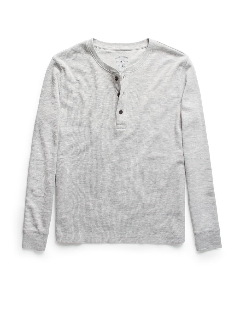 Slub-cotton henley t-shirt | MANGO