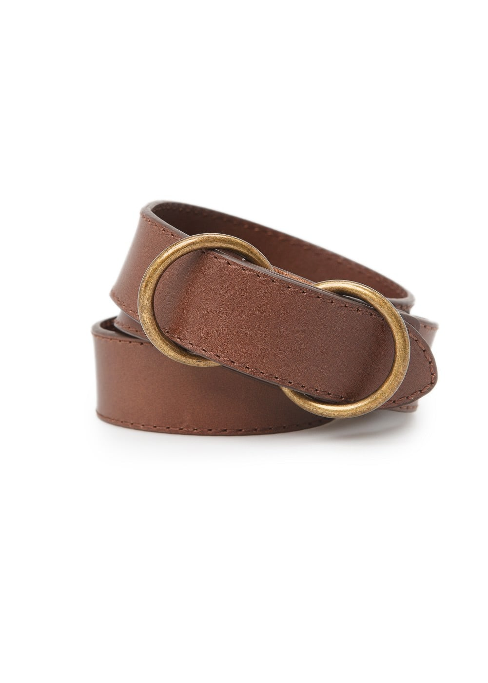 Double ring leather belt | MANGO