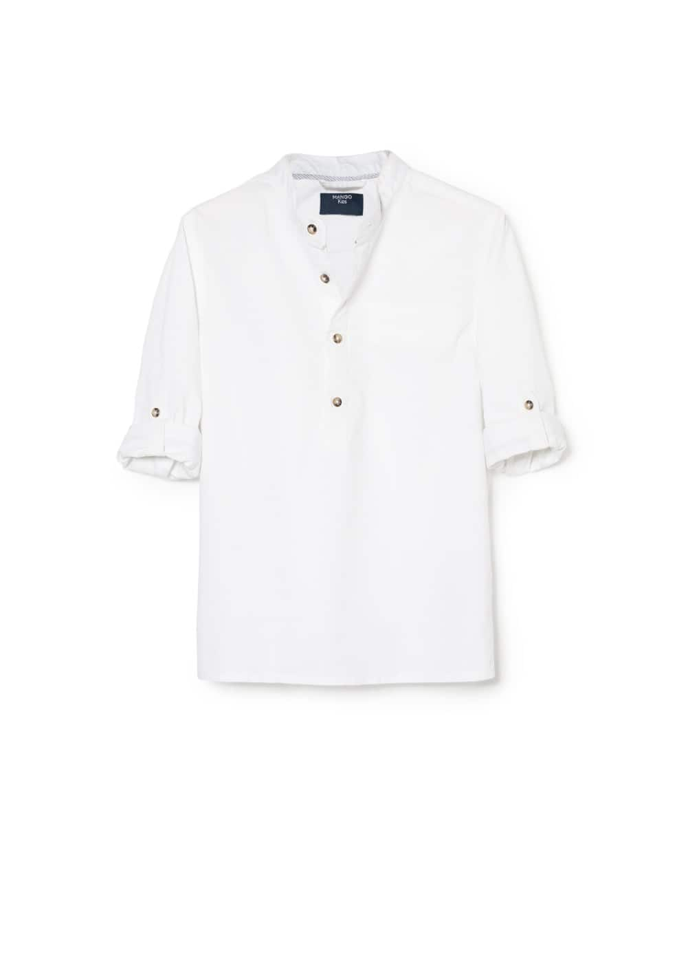 Mao collar shirt | MANGO KIDS
