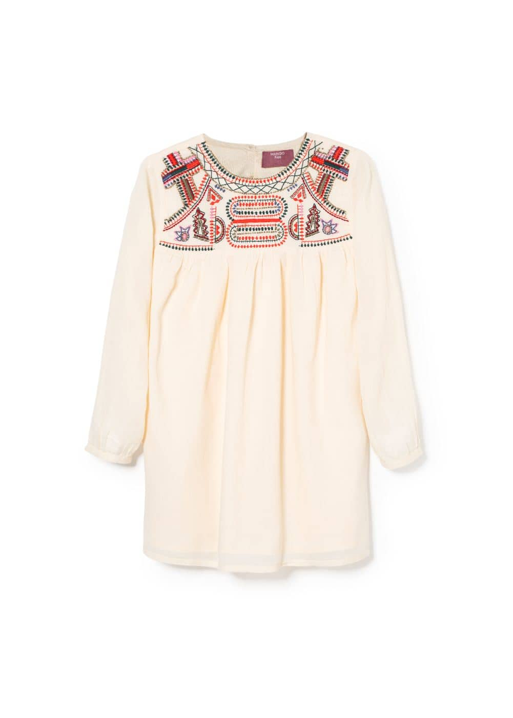 Bead embroidered dress | MANGO KIDS