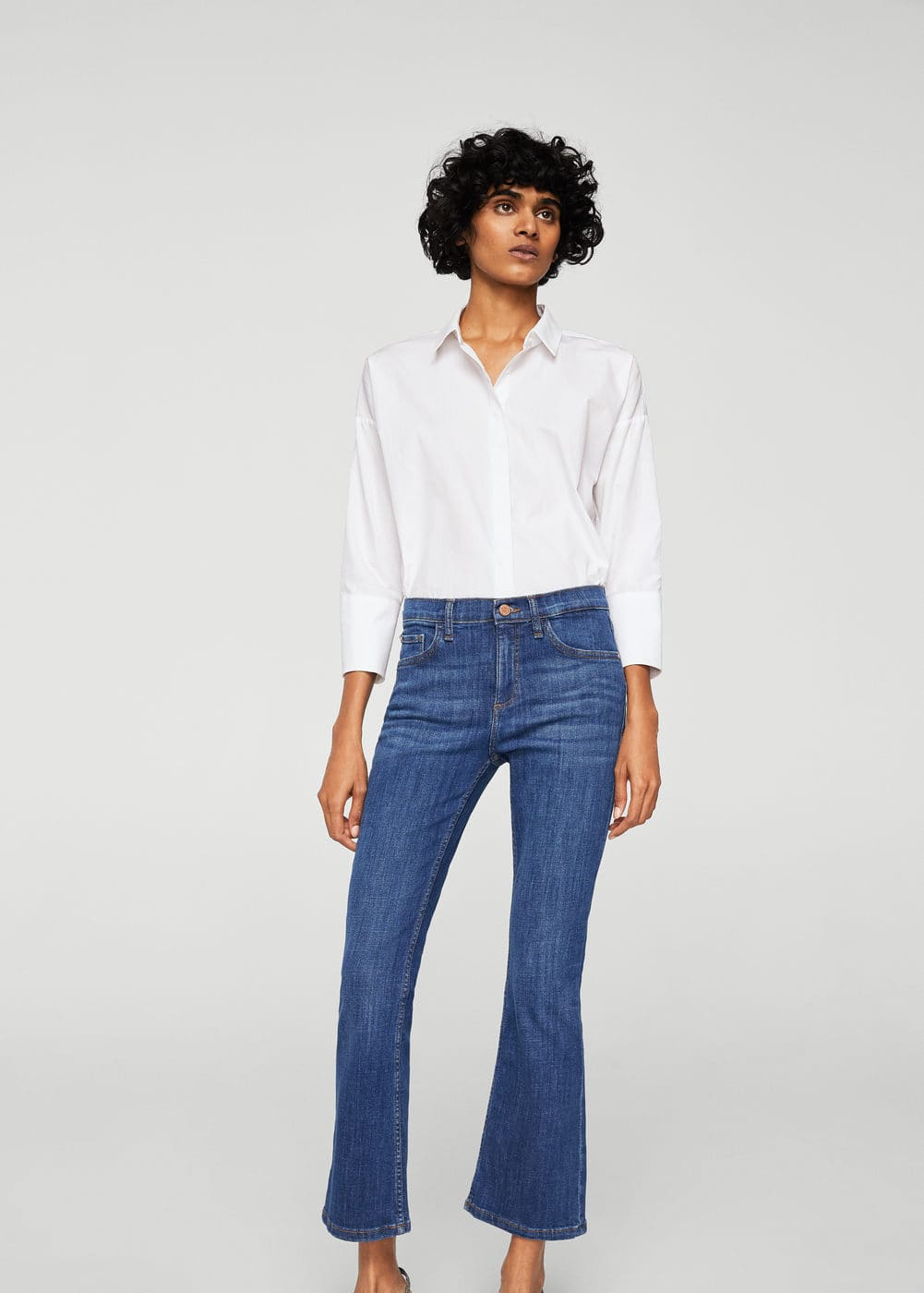 Jeans flare trumpet | MANGO