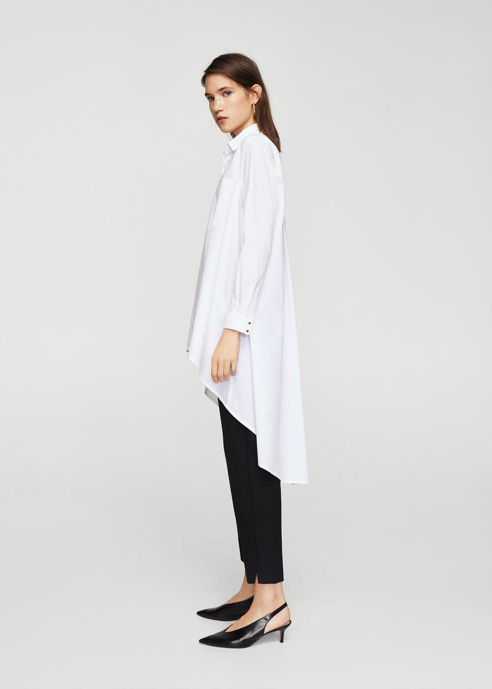 Cotton long shirt | MANGO