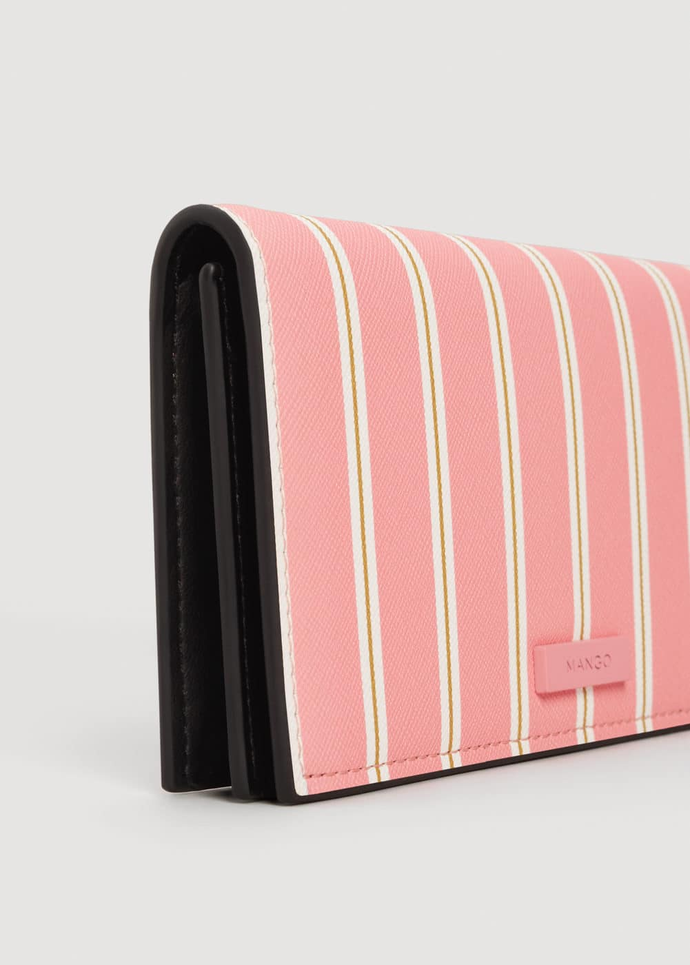 Striped wallet | MANGO