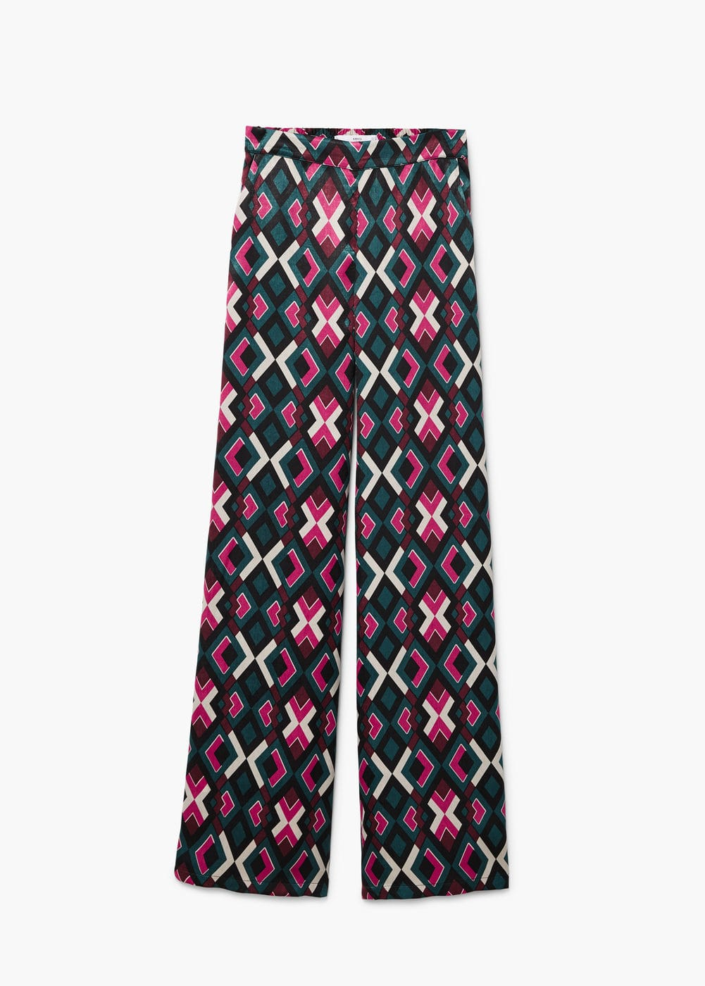 High-waist printed trousers | MANGO