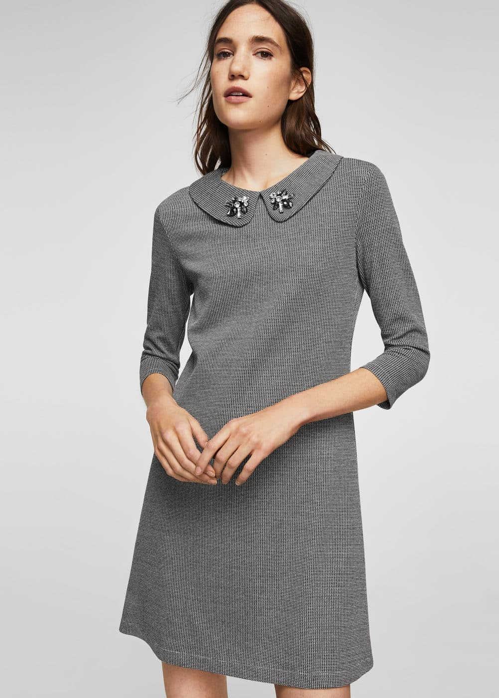 Crystal collar dress | MANGO