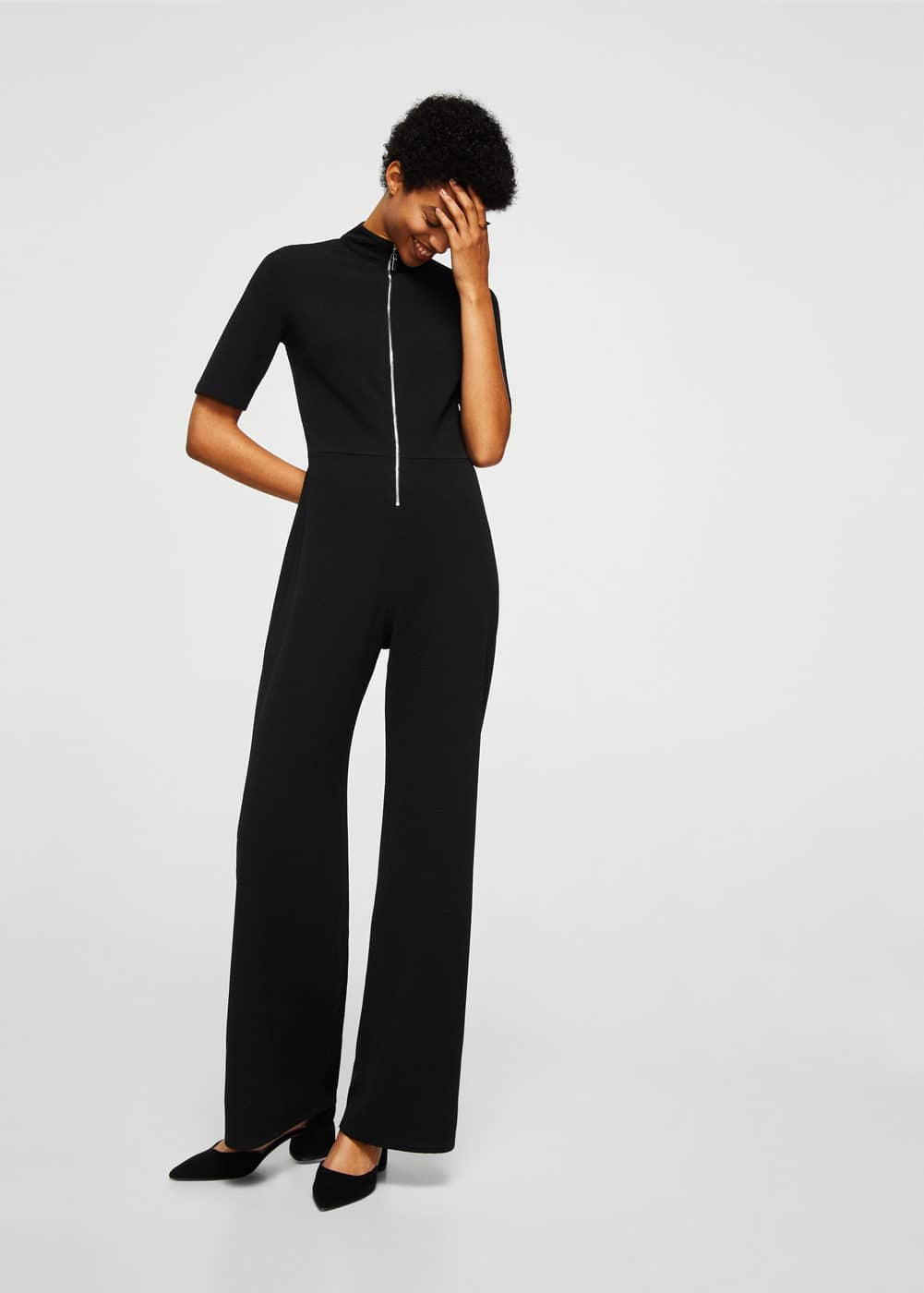 Zip long jumpsuit | MANGO