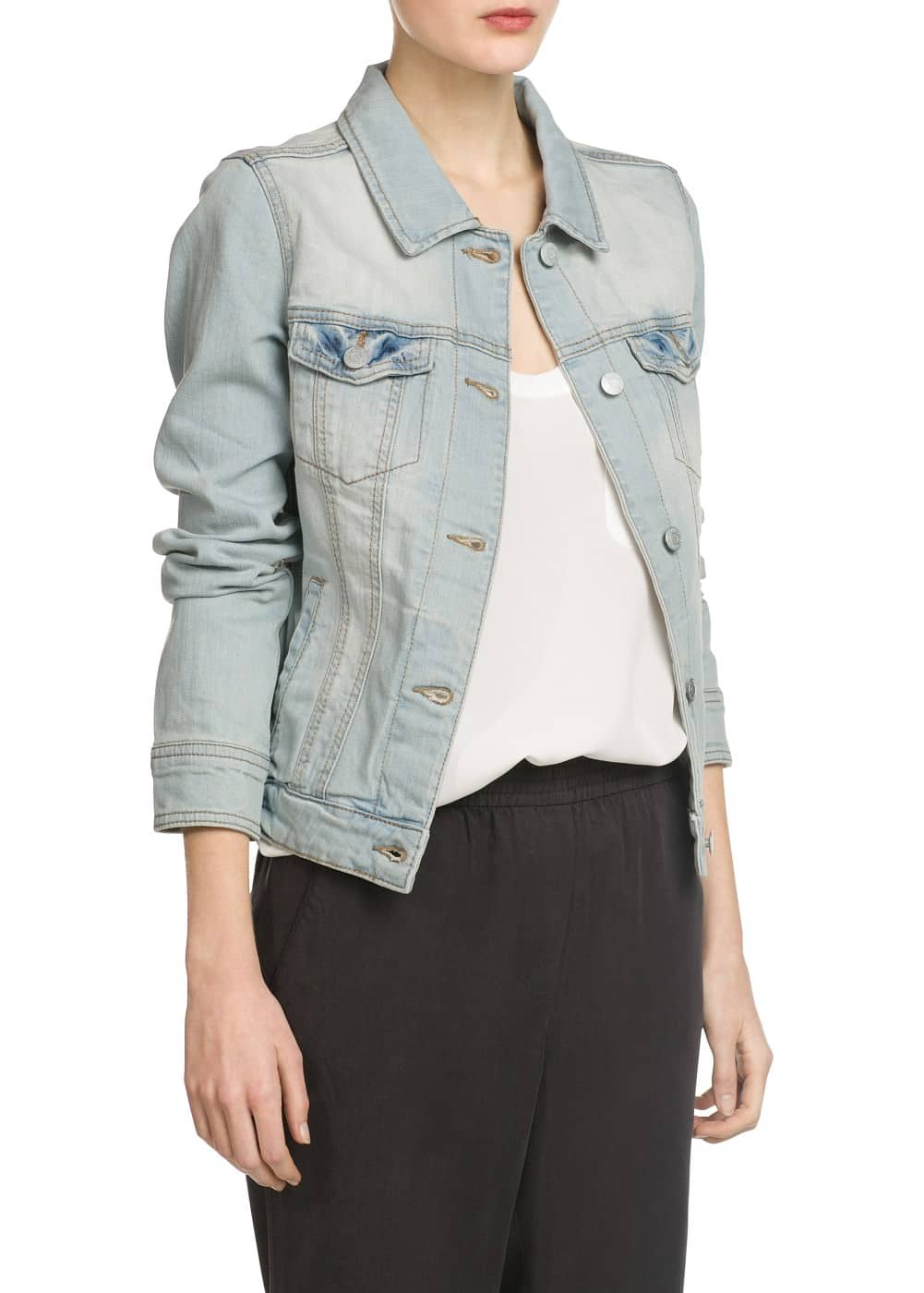 Bleached denim jacket | MANGO
