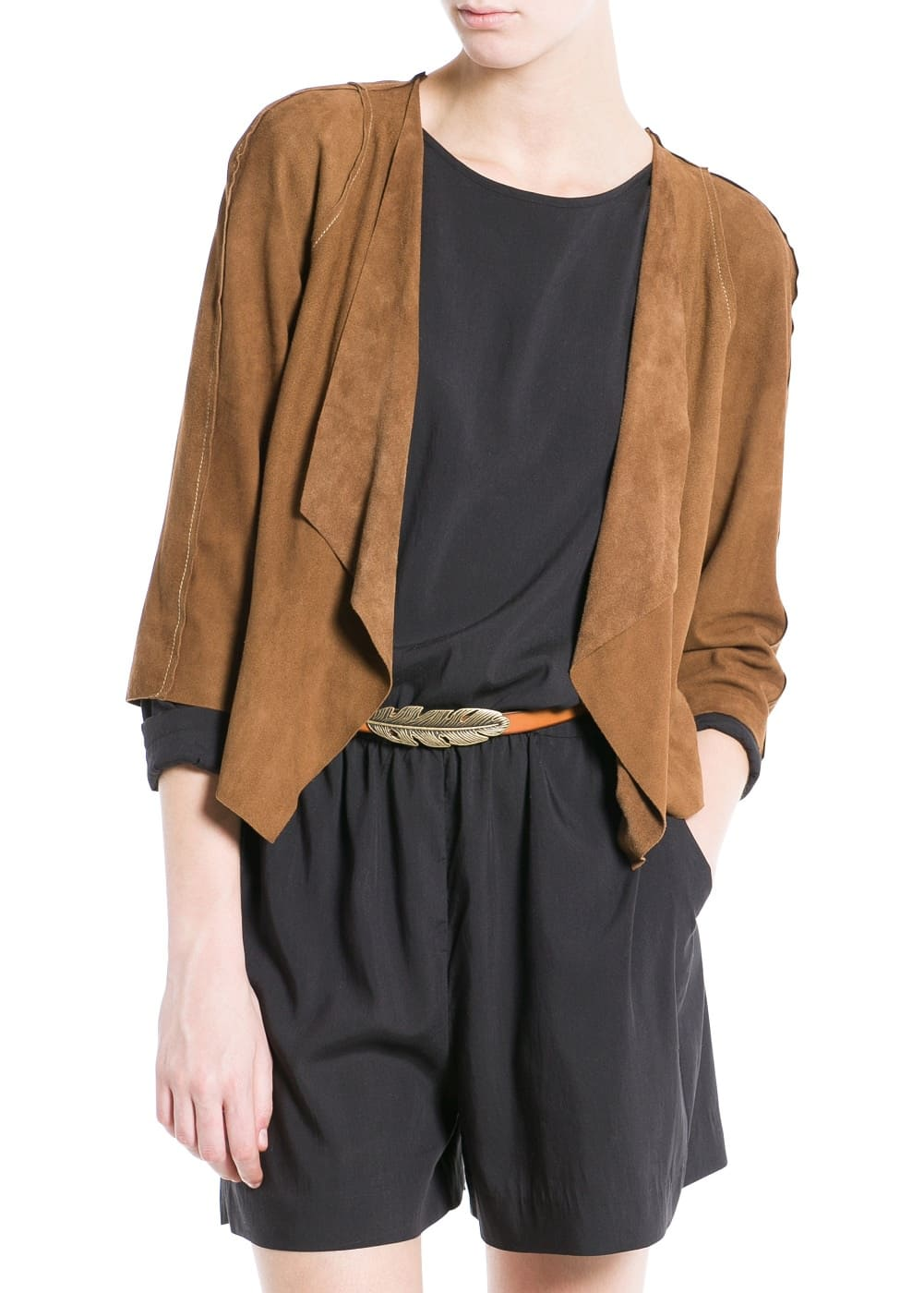 Waterfall suede jacket | MANGO
