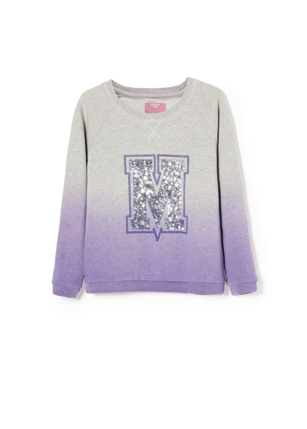Sequin ombré sweatshirt | MANGO KIDS
