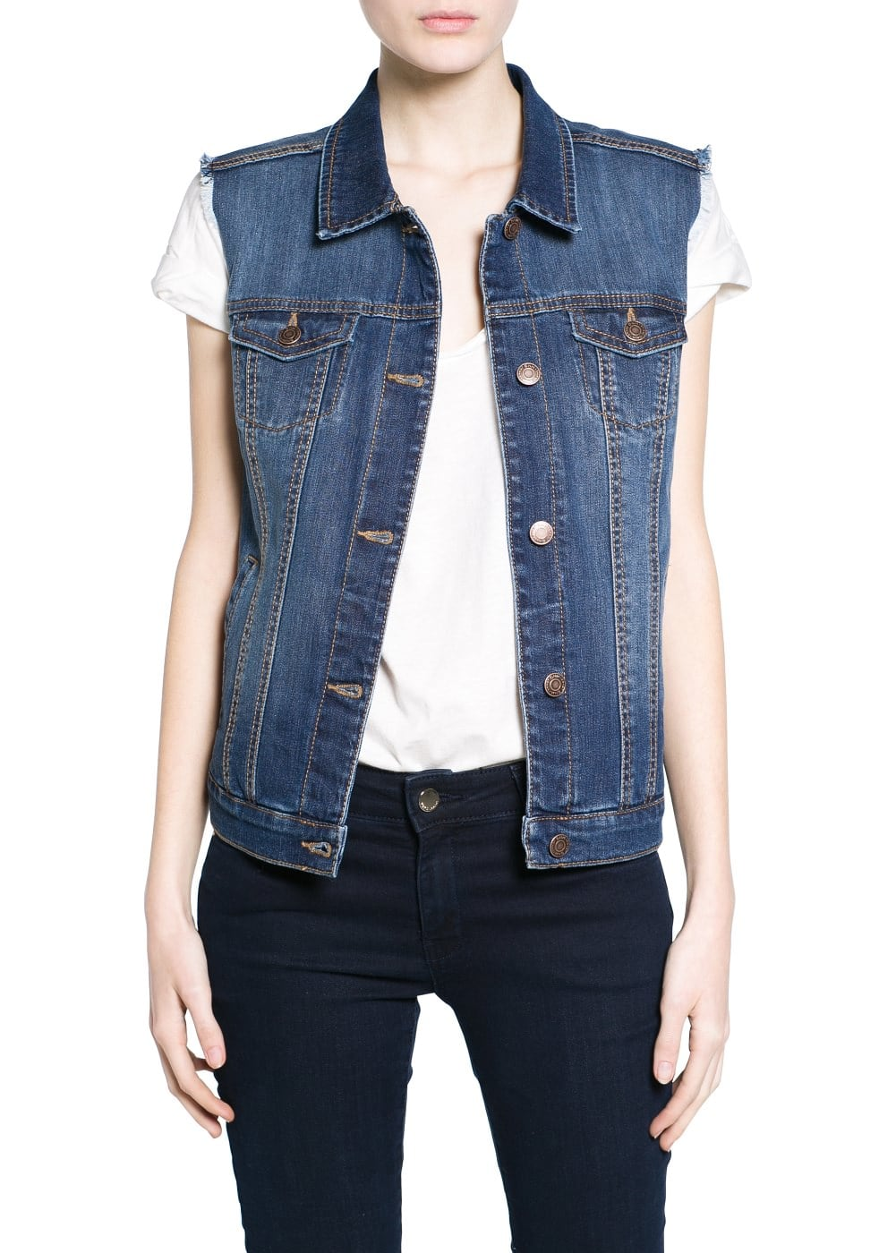 Dark denim gilet | MANGO