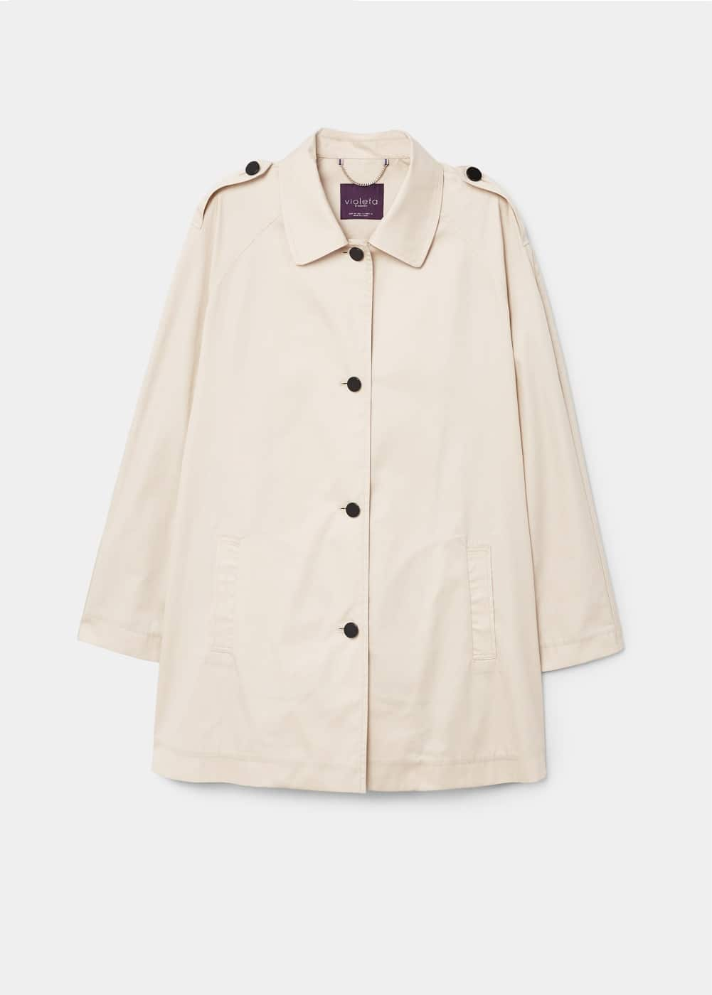 Unstructured short trench | VIOLETA BY MANGO