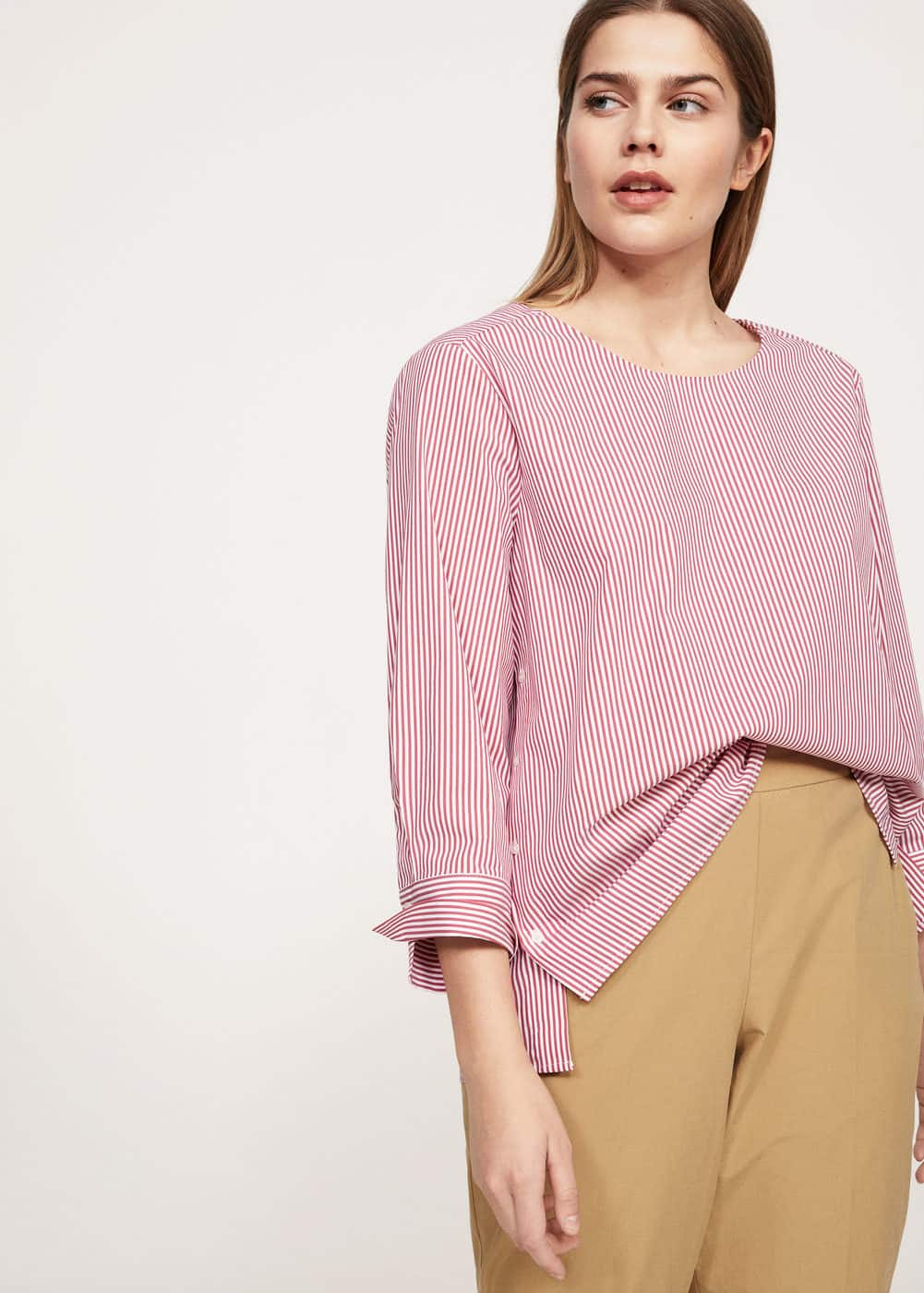 Buttons stripes shirt | VIOLETA BY MANGO