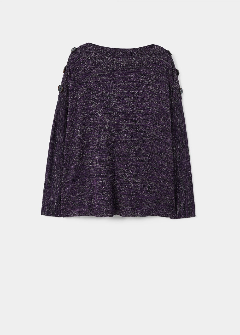 Buttoned flecked sweater | VIOLETA BY MANGO