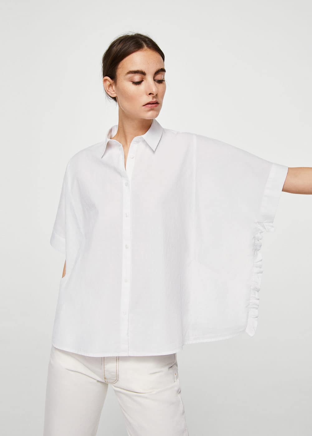 Pocket overseize shirt | MANGO