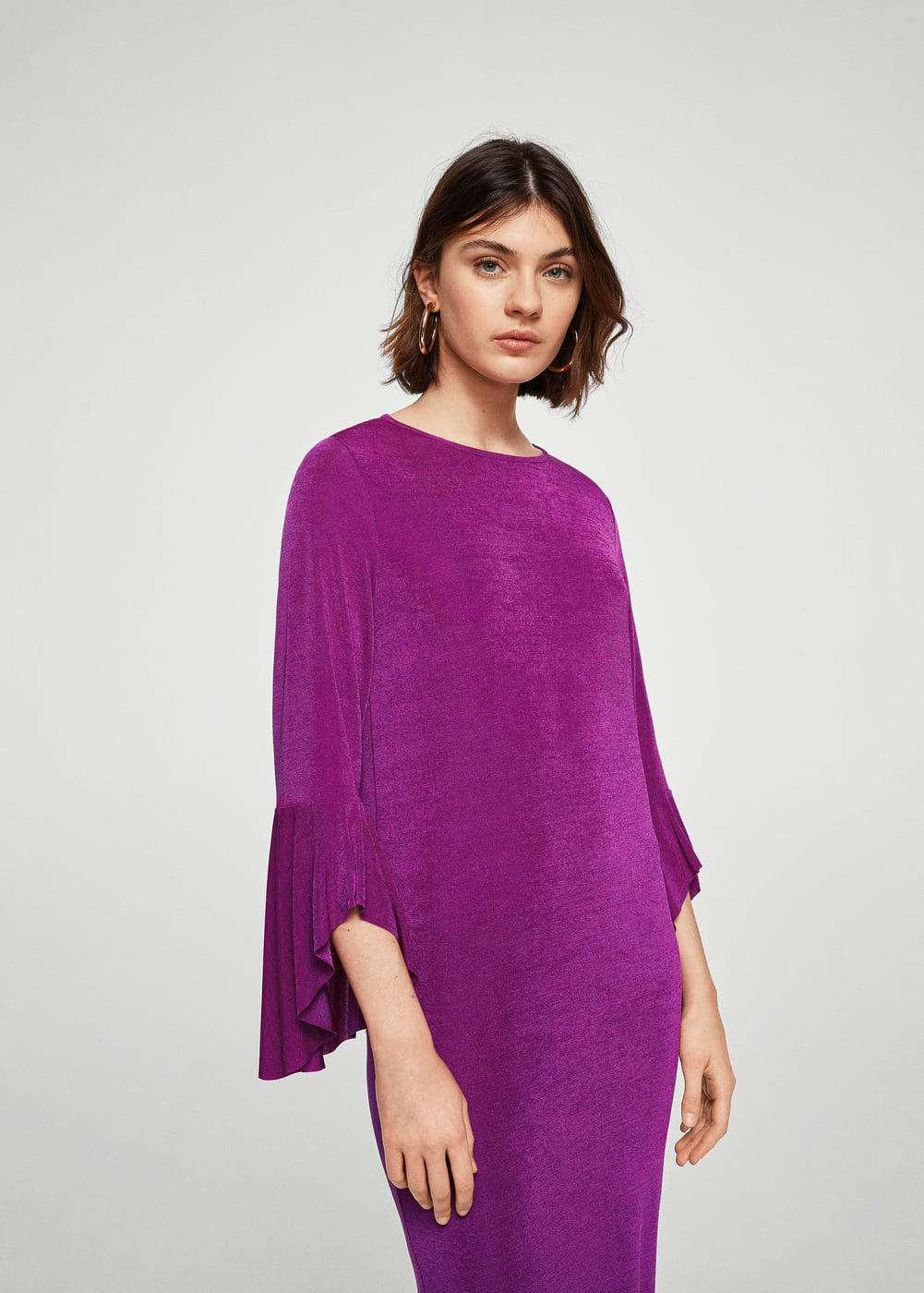 Ruffled sleeve dress | MNG