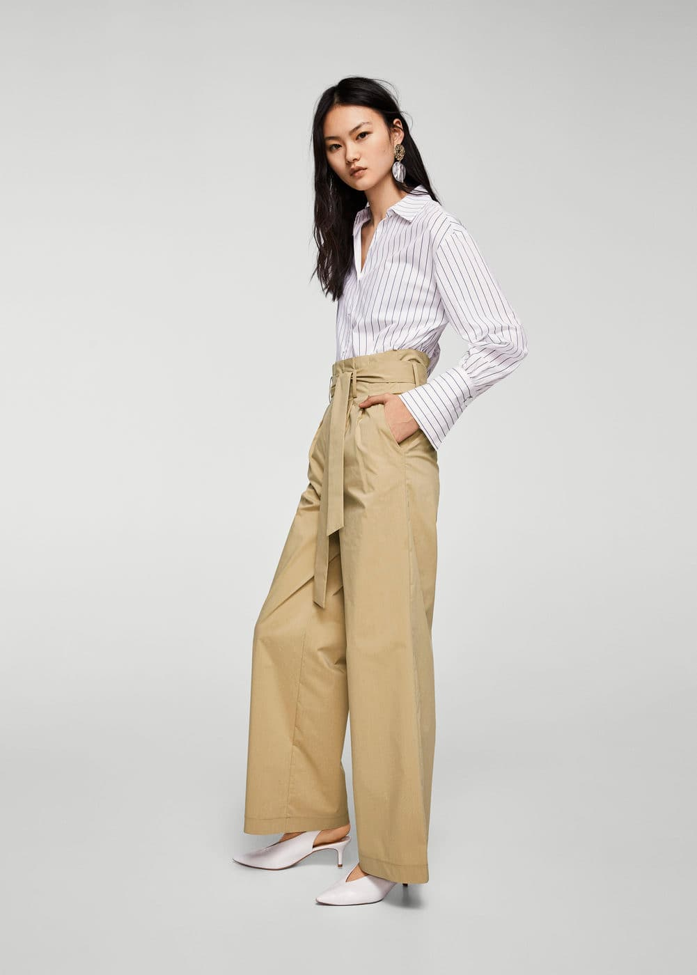 Paper bag trousers | MANGO