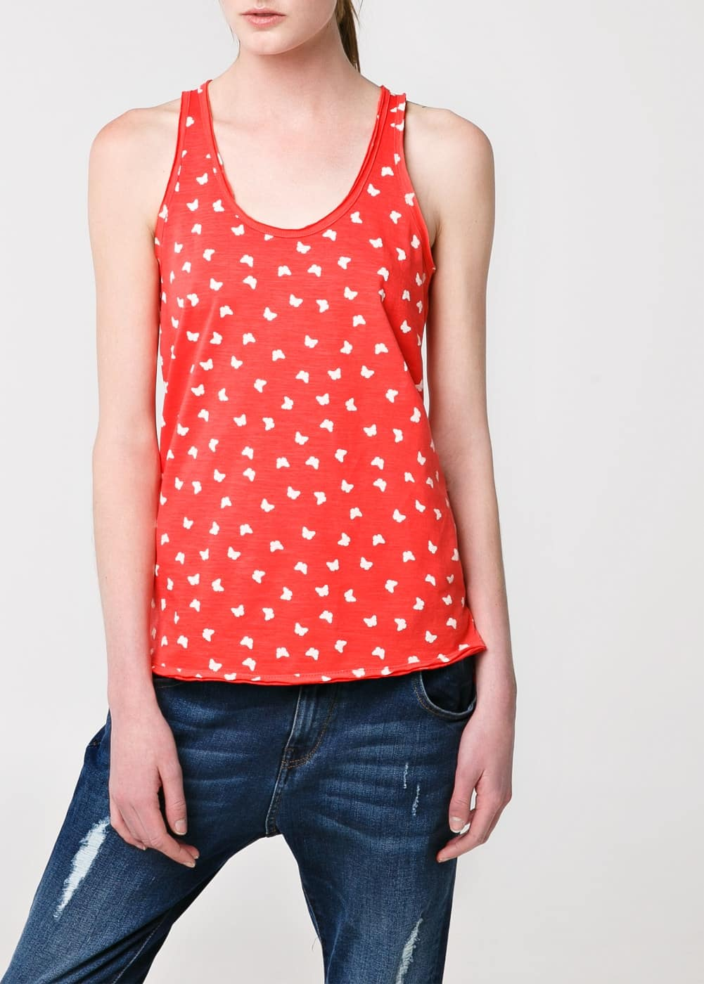 Top tirants estampat | MANGO