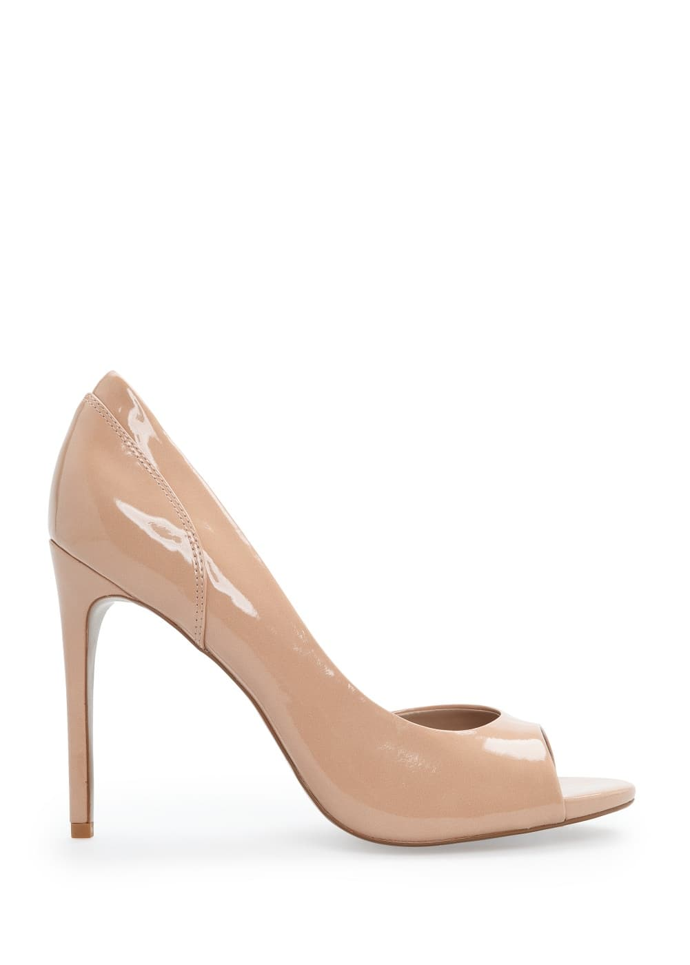 Patent peep-toe stiletto shoes | MANGO