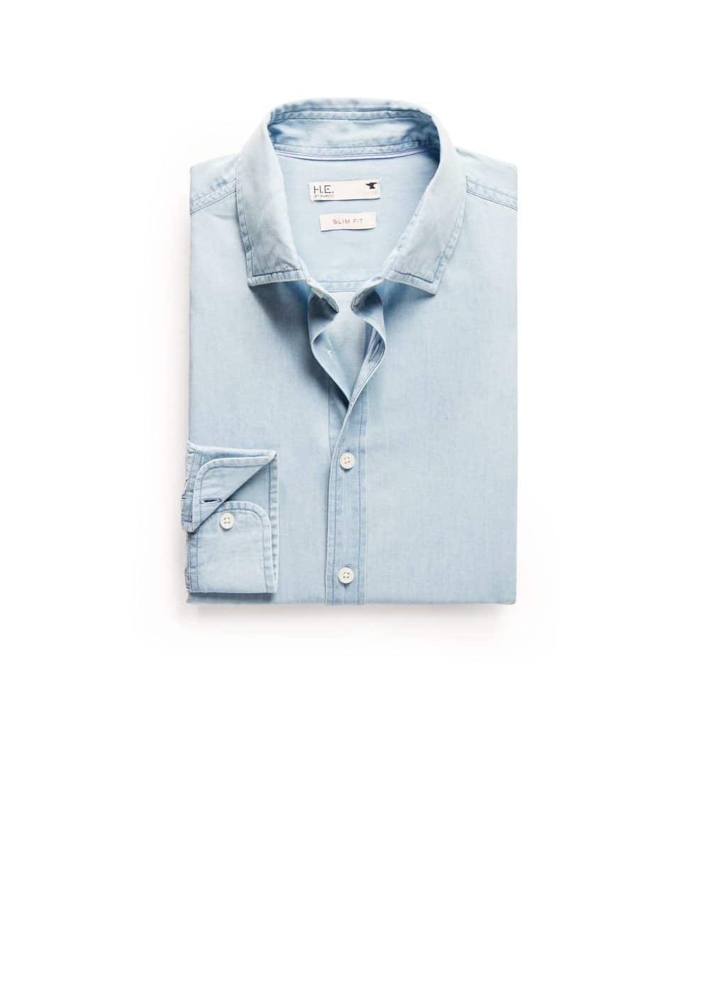 Camisa slim-fit chambray | MANGO MAN