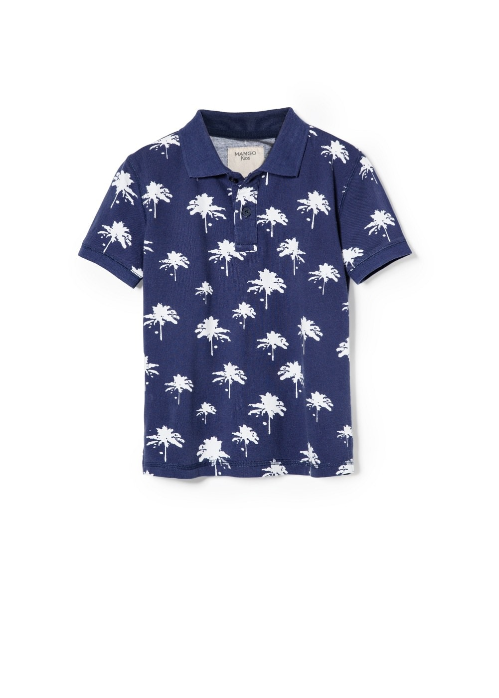 Printed polo shirt | MANGO