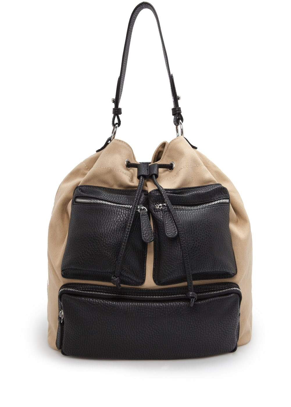 Multi-pocket bucket bag | MANGO MAN