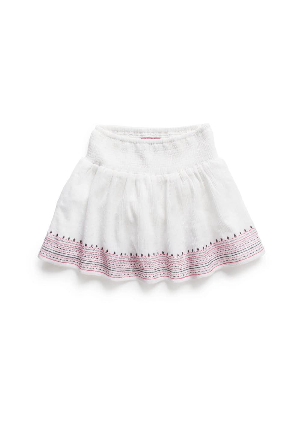 Embroidered cotton skirt | MANGO