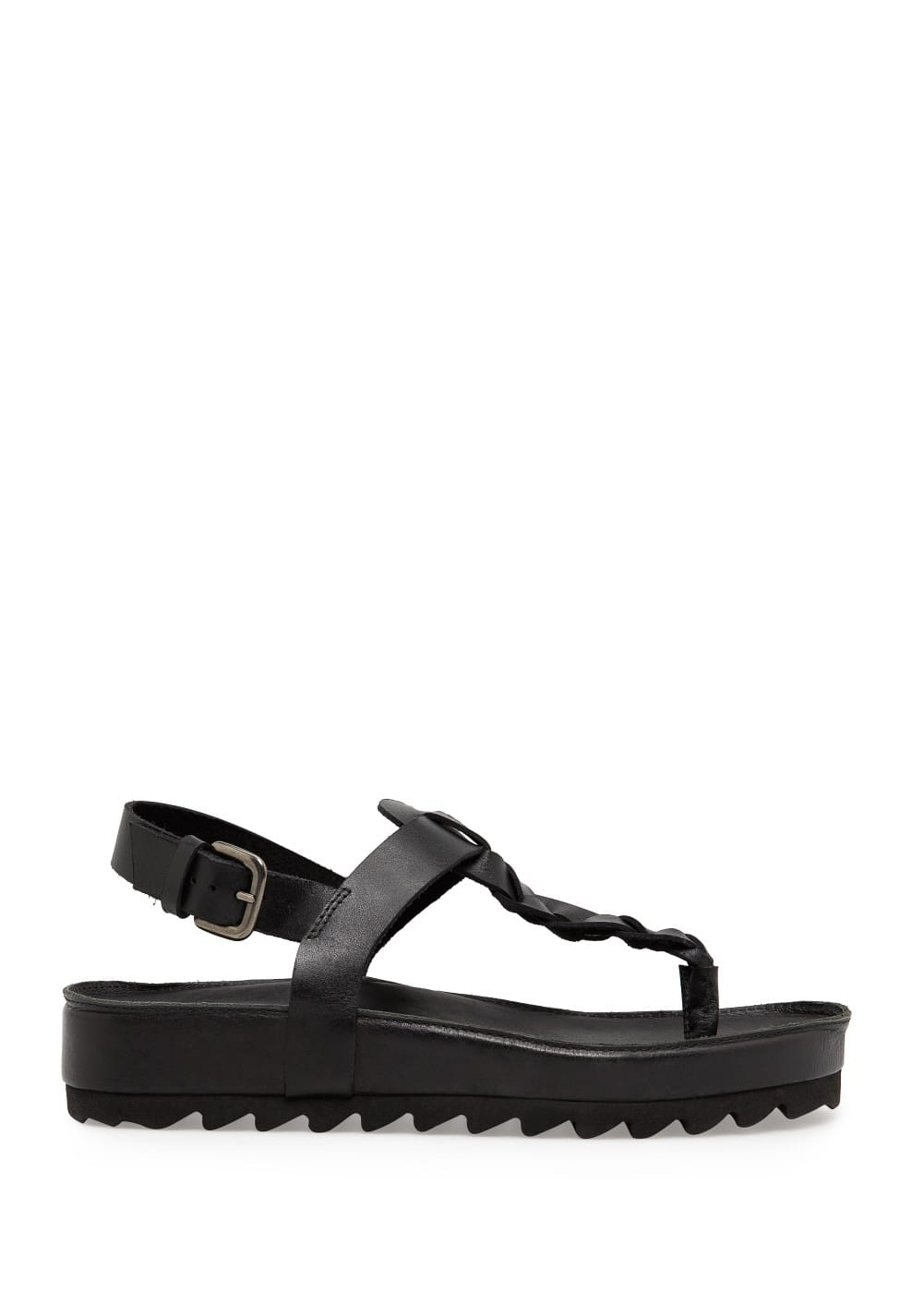 Leather flatform sandals | MANGO