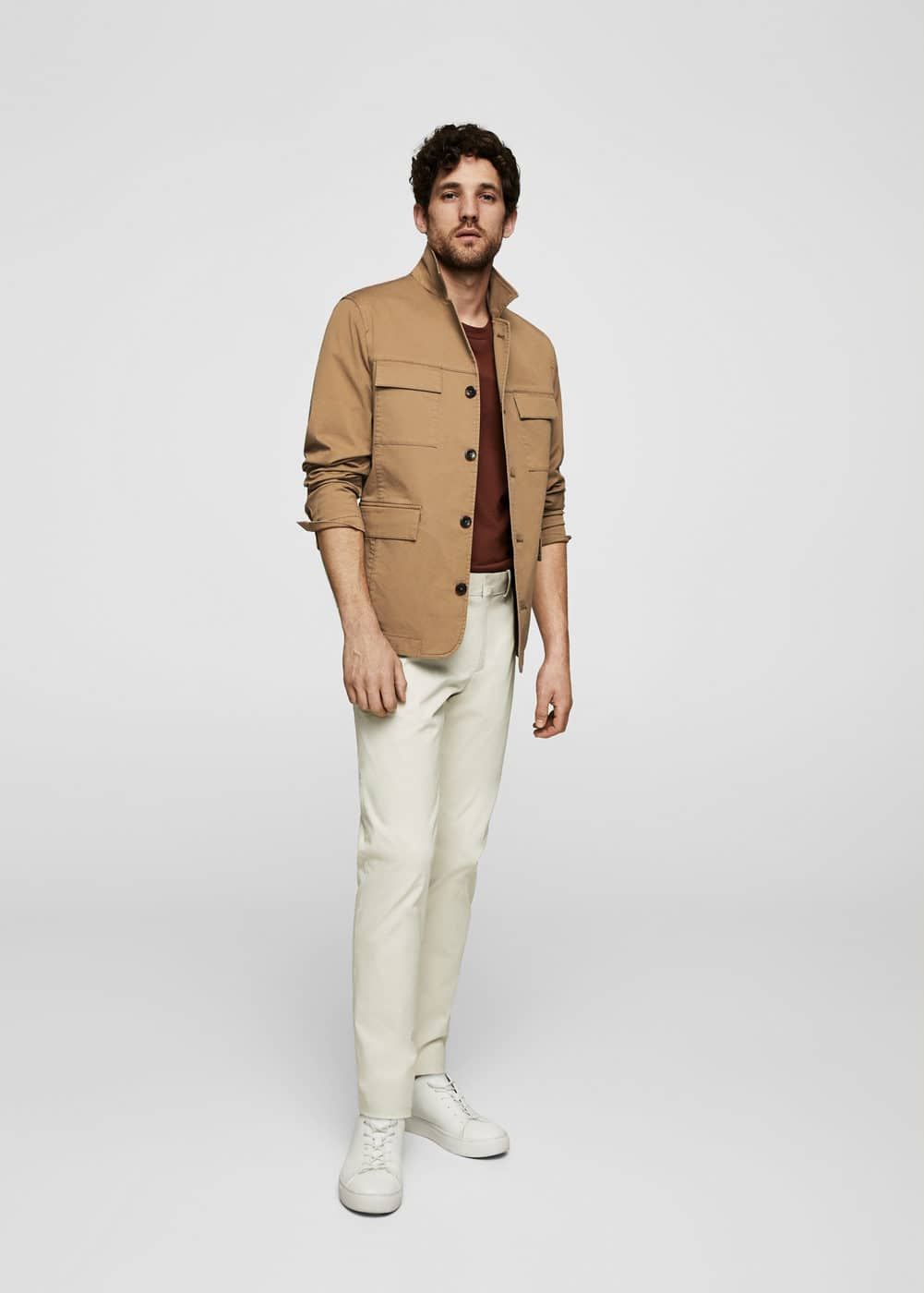 Katoenen Field Jacket by Mango