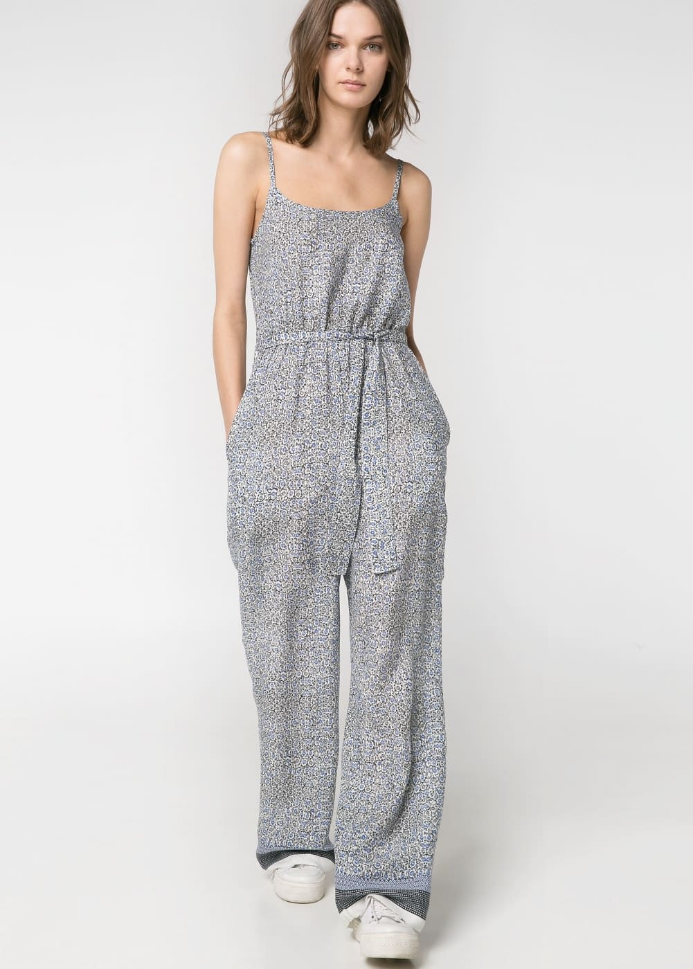 Printed long jumpsuit | MANGO