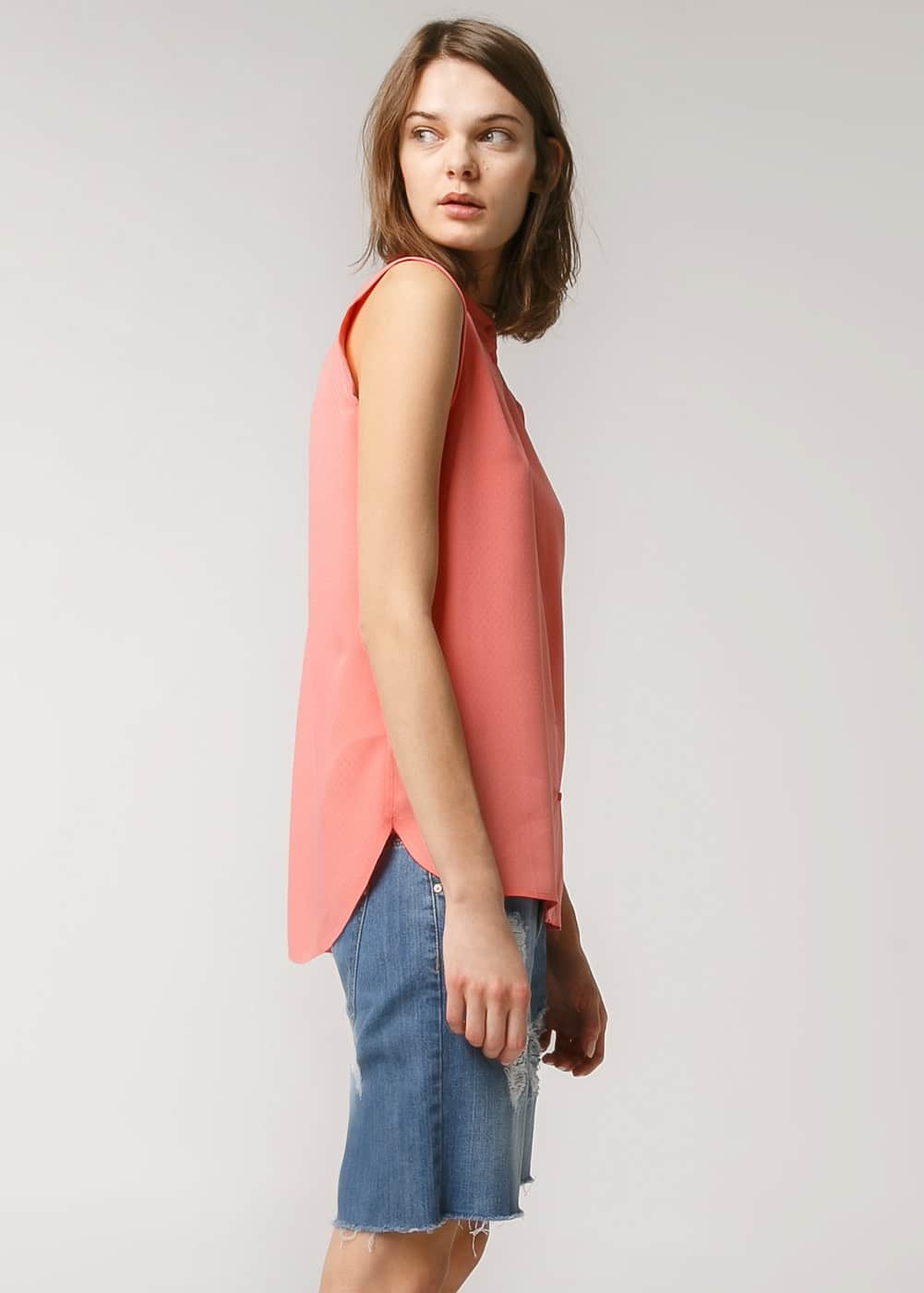 Mao collar shirt | MANGO