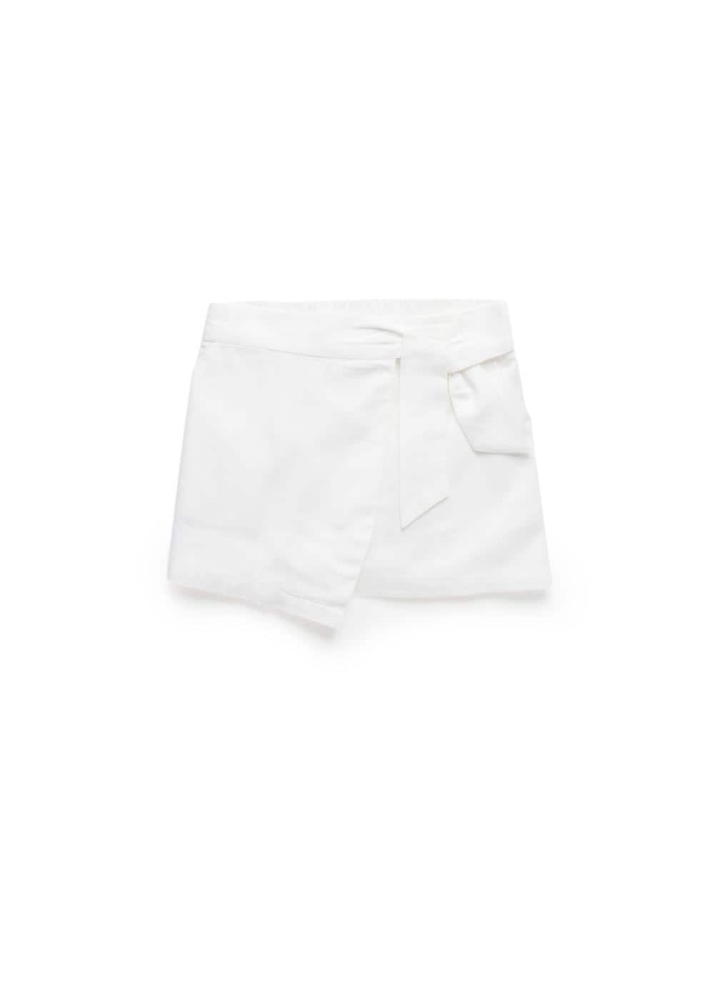 Bow linen skirt | MANGO