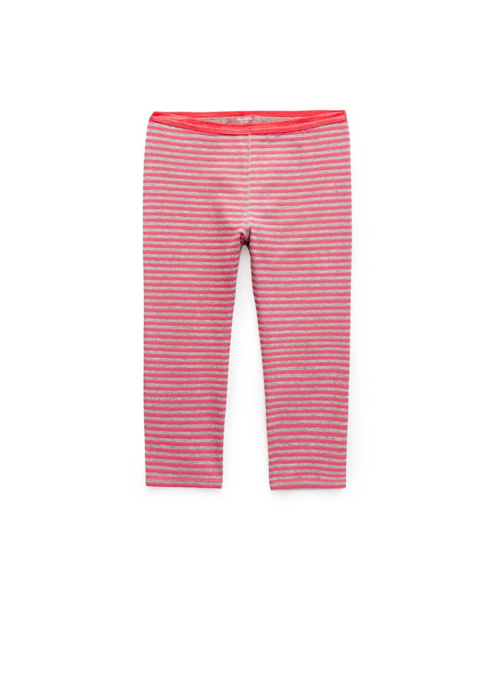 Bicolor striped leggings | MANGO KIDS