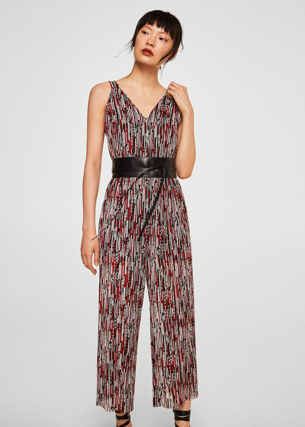 Textured Knit Jumpsuit by Mango