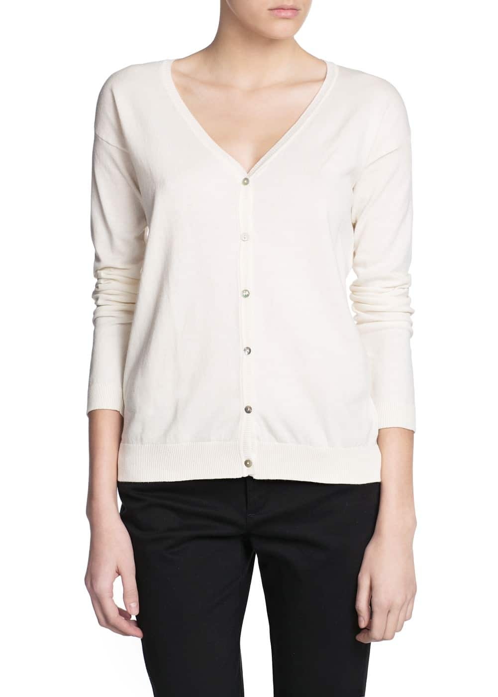 Essential v-neck cardigan | MANGO
