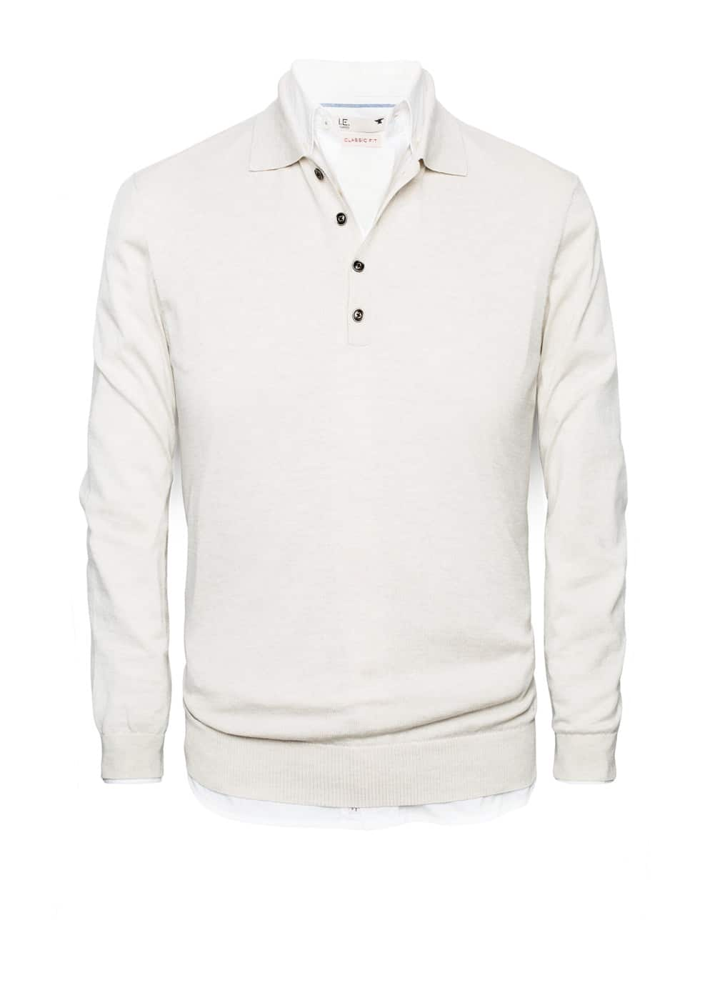 Polo collar silk-blend premium sweater | MANGO MAN