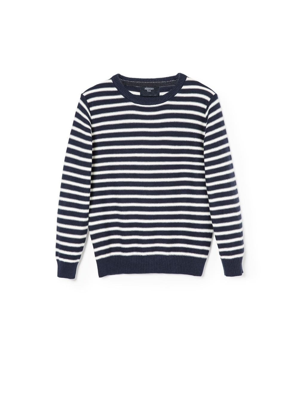 Striped cotton sweater | MANGO KIDS