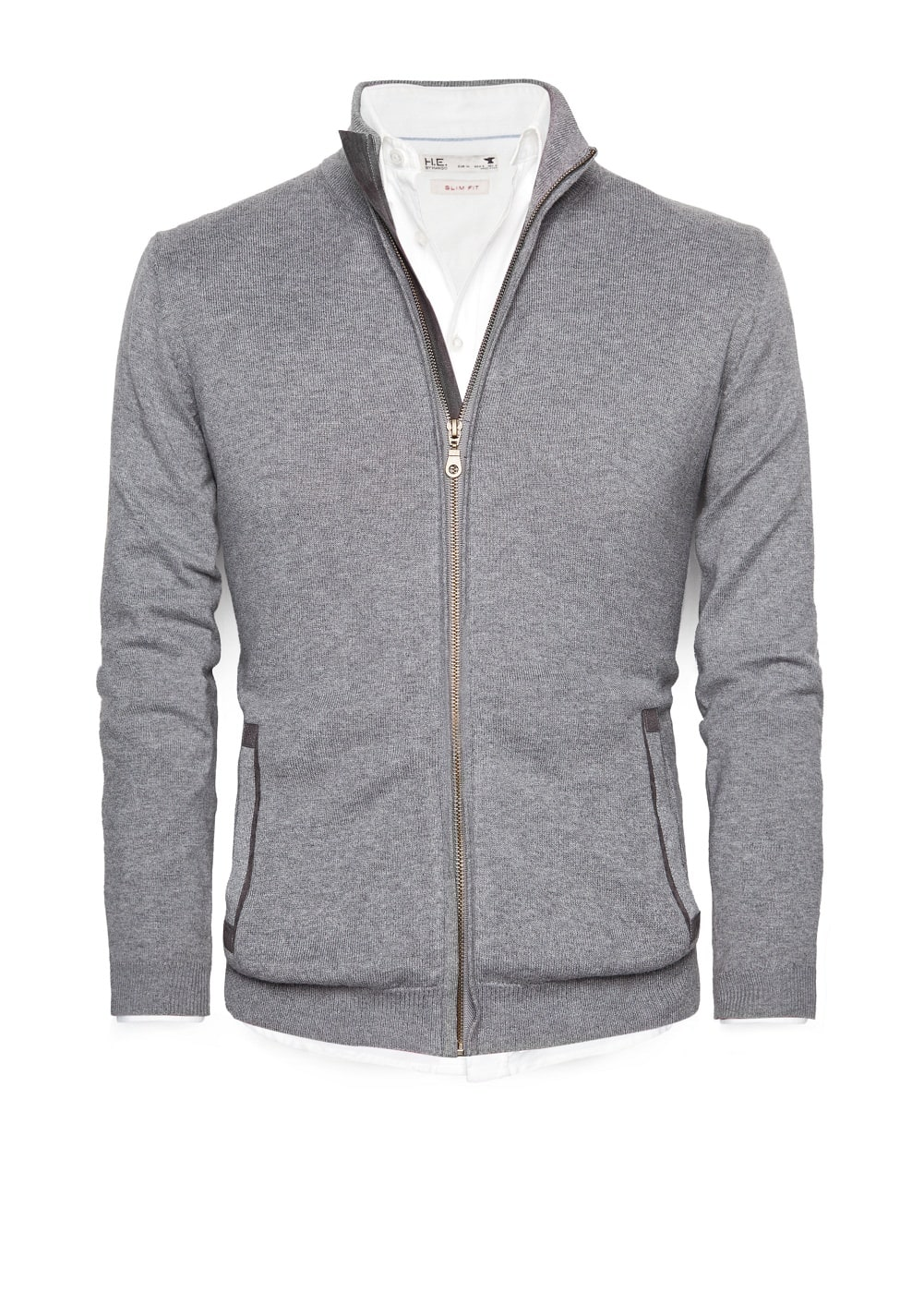 Cashmere cotton-blend cardigan | MANGO MAN
