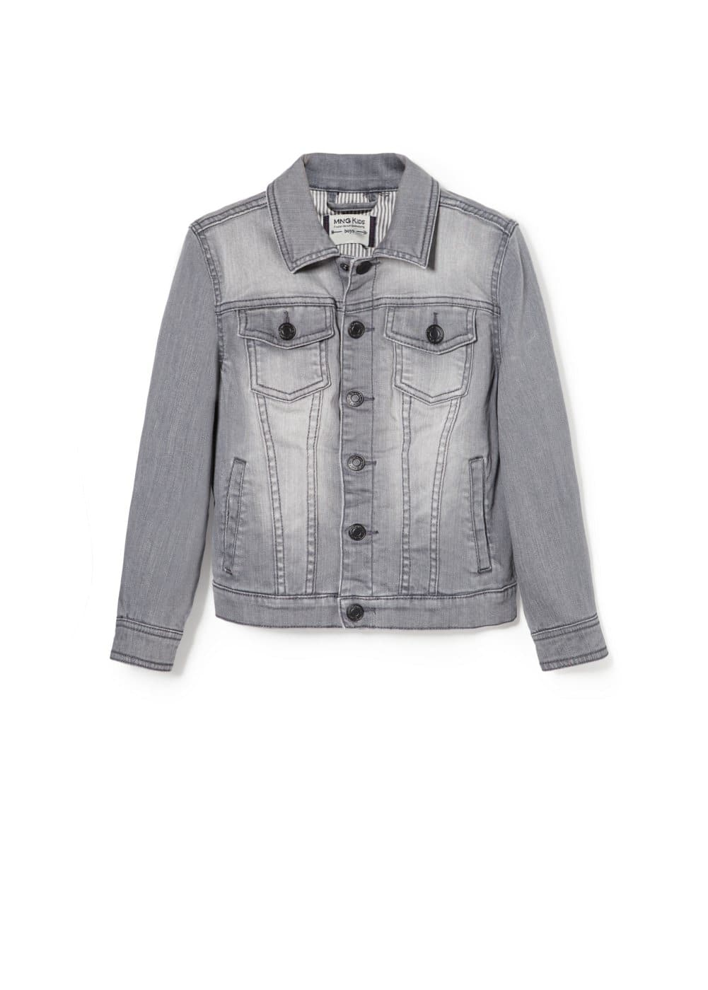 Grey denim jacket | MANGO KIDS