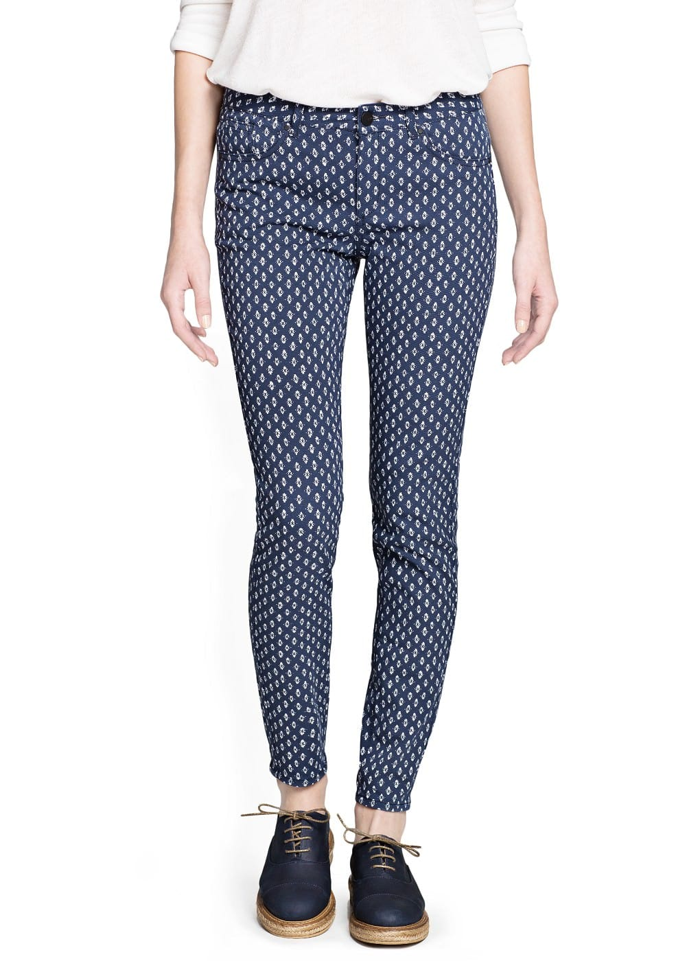 Slim-fit printed trousers | MANGO