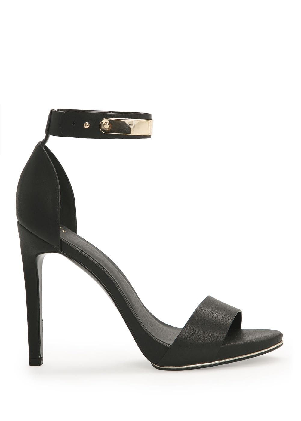 Metallic appliqué ankle-cuff sandal | MANGO MAN